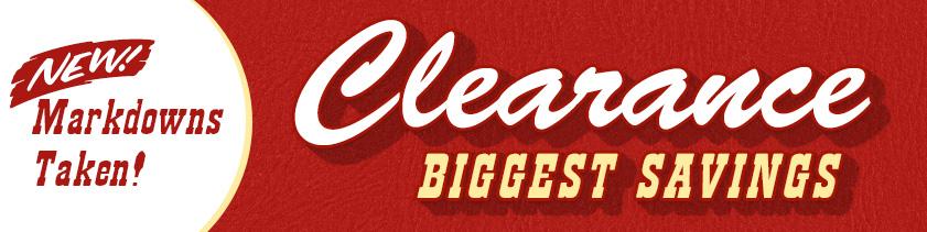 Clearance Greatest Savings