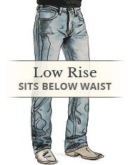 Men's Low Rise Jeans