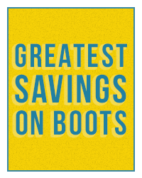Greatest Savings on Boots